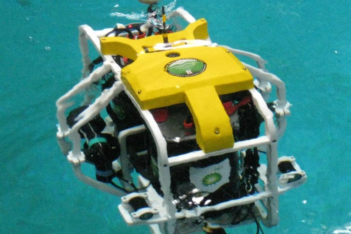 A coralbot prototype that the research team hopes to further develop