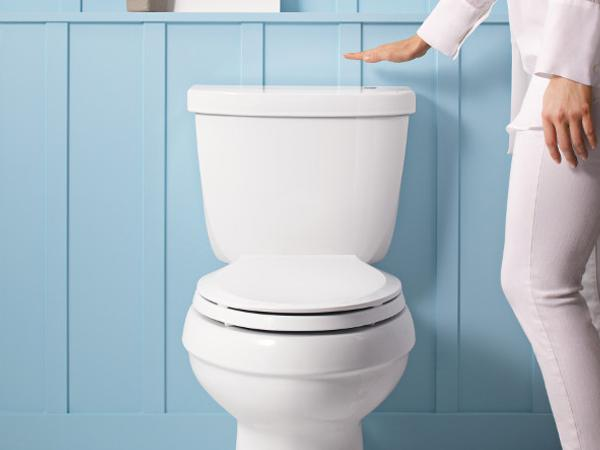 The technology is also built into Kohler's new Cimarron Touchless Toilet