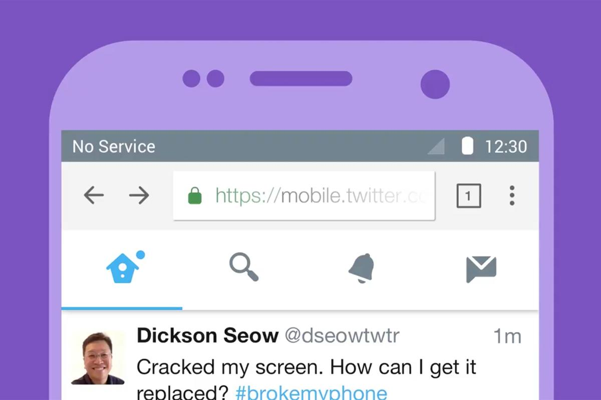 Twitter Lite provides a mobile experience that's easy on data and storage, and it's resilient over shaky connections