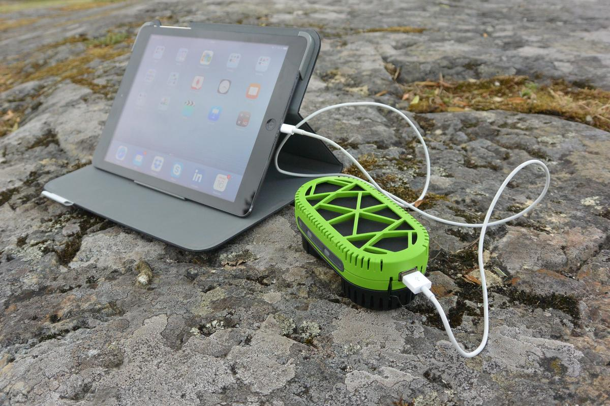 The PowerTrekk 2.0 is designed to charge more power-hungry gadgets such as tablets