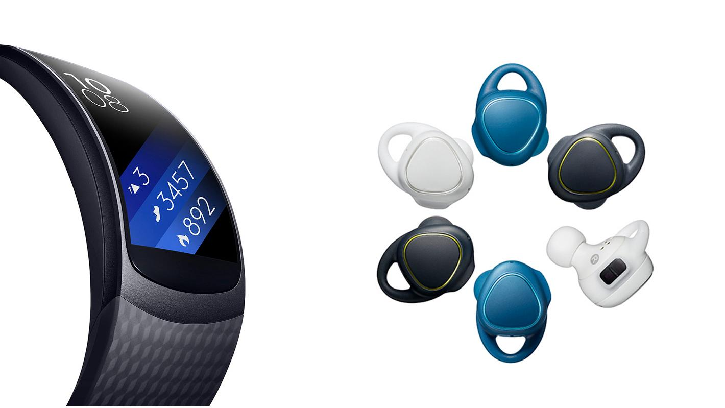 Samsung is gearing up for exercise in the Northern summer, with the wrist-based Gear Fit 2 and earworn IconX buds
