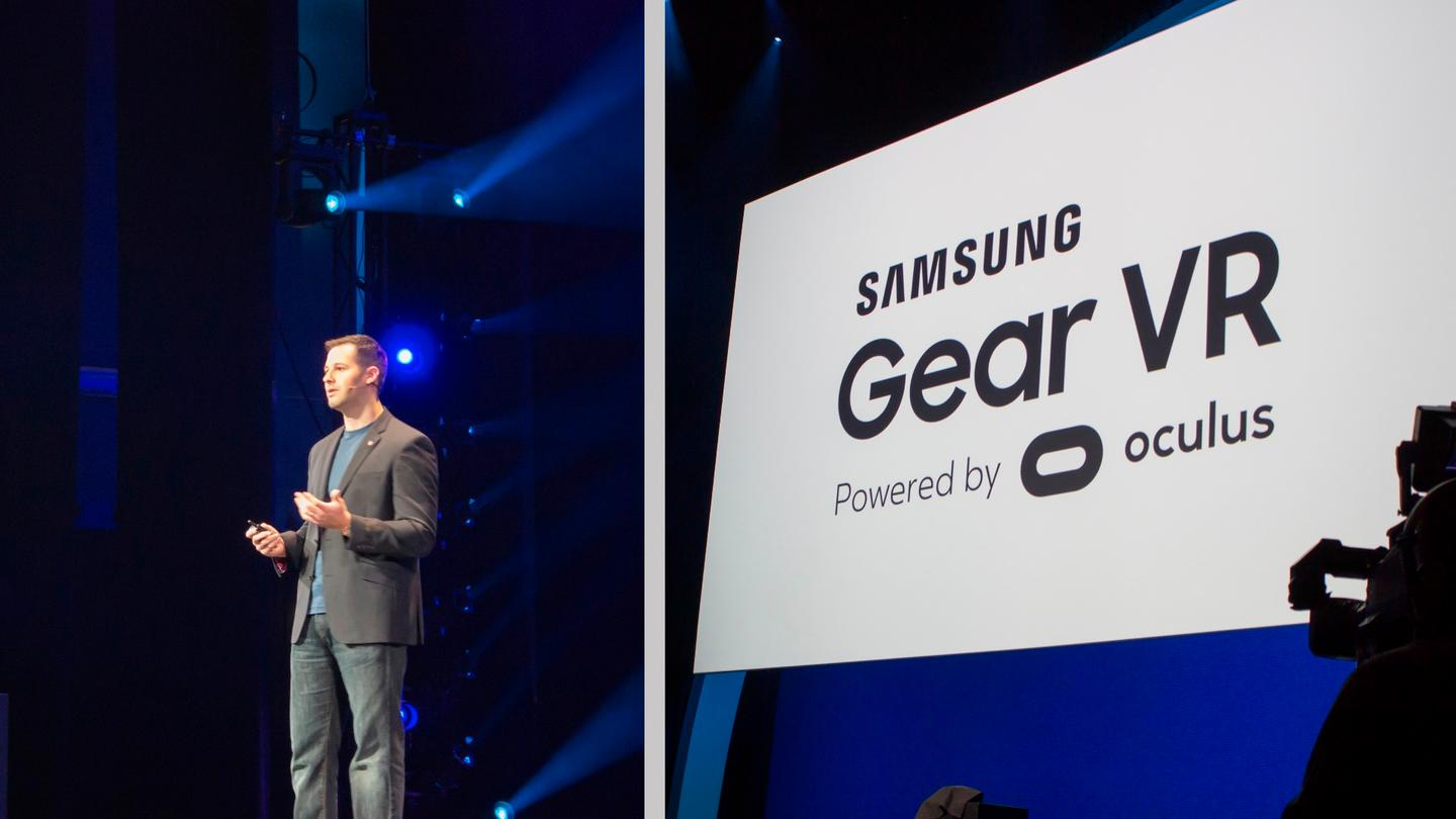 Oculus VR's Head of Mobile Max Cohen, talking about the new Gear VR at today's keynote