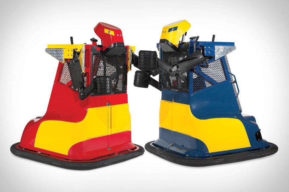 Hammacher Schlemmer's Bionic Bopper Cars are large fighting robots, which the operators sit inside of