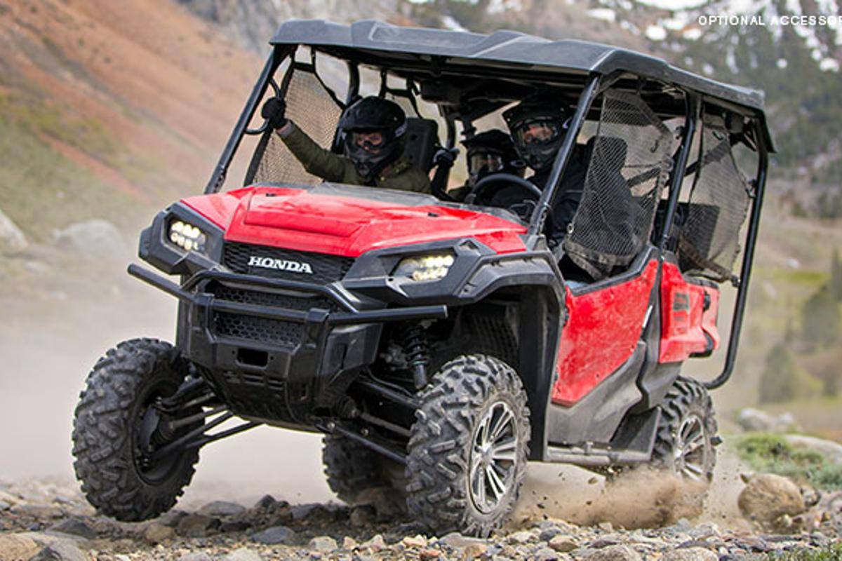 Honda's new Pioneer 1000 and 1000-5 models offer a larger engine, six-speed automatic DCT and available paddle shifting