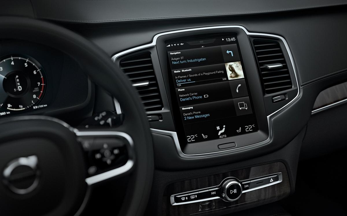 Navigation, audio and climate control settings are all adjusted through the screen