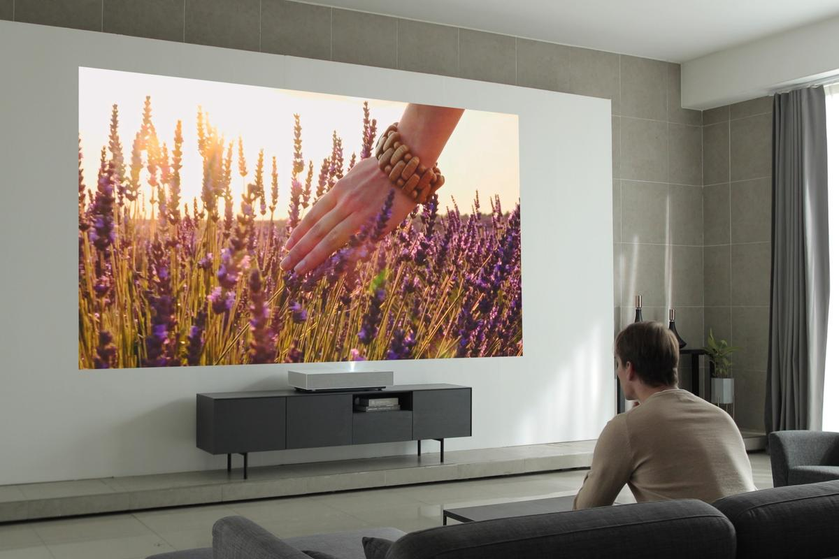With LG's latest CineBeam laser projector, viewers can cover a living room wall in 4K movie goodness