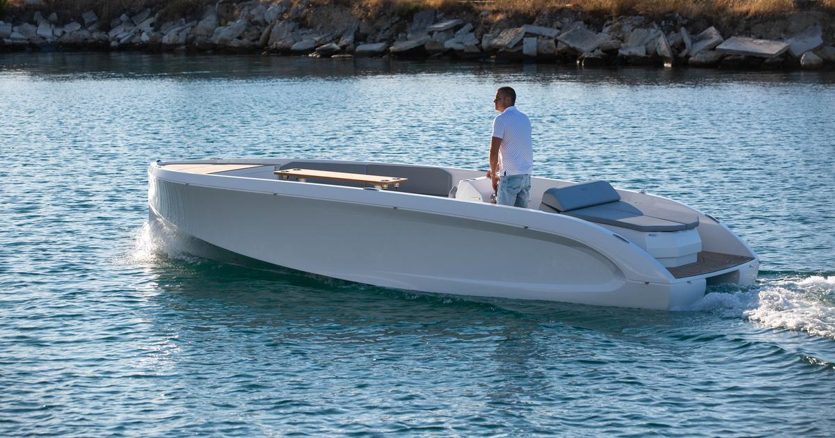 Rand's latest motorboat offers electric cruising for up to 10 people