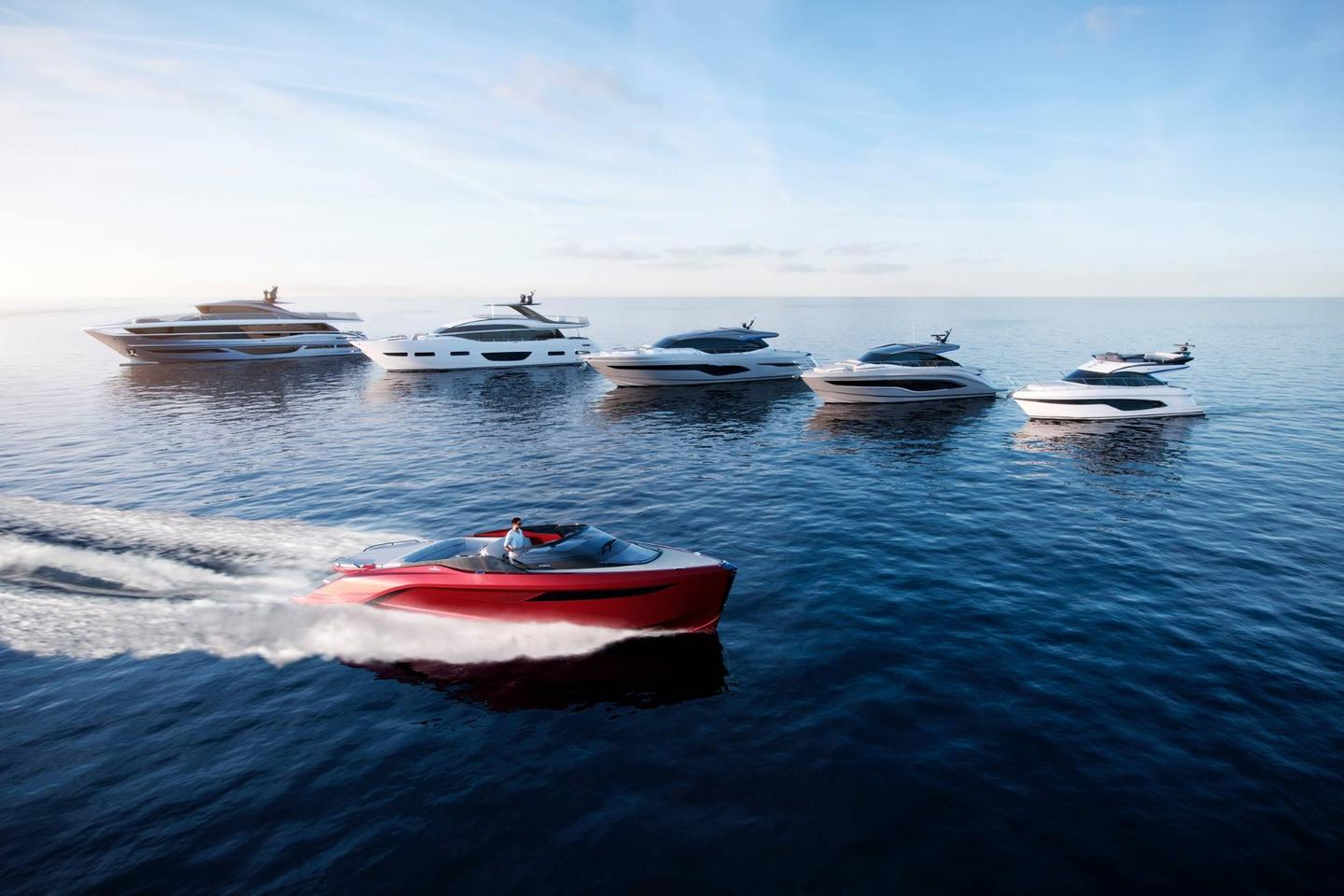 This won't be the last we see from a Princess and Pininfarina collaboration, with the two companies also collaborating on the upcoming Princess X95 motor yacht pictured in the top left here