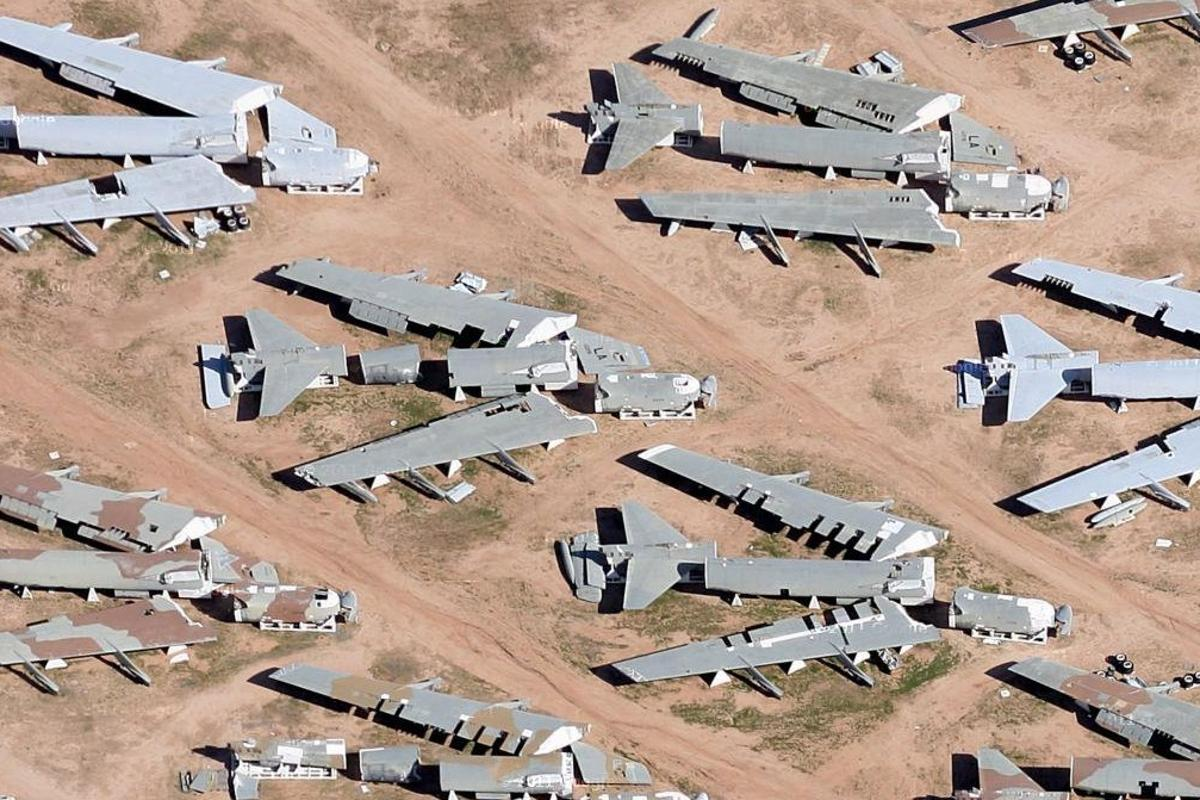 Previous arms control measures involved the destruction of delivery systems, such as these USAF B-52 bombers in Arizona