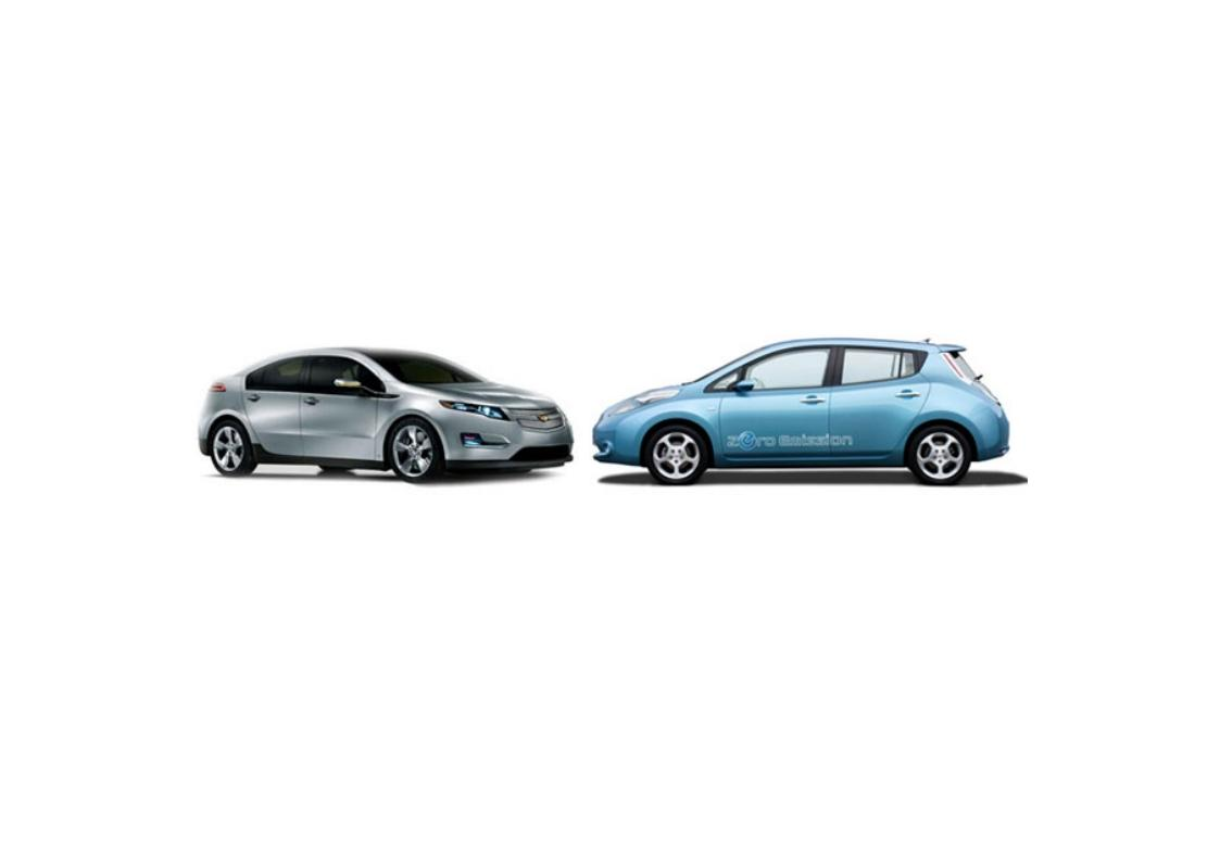 Chevy Volt and Nissan LEAF