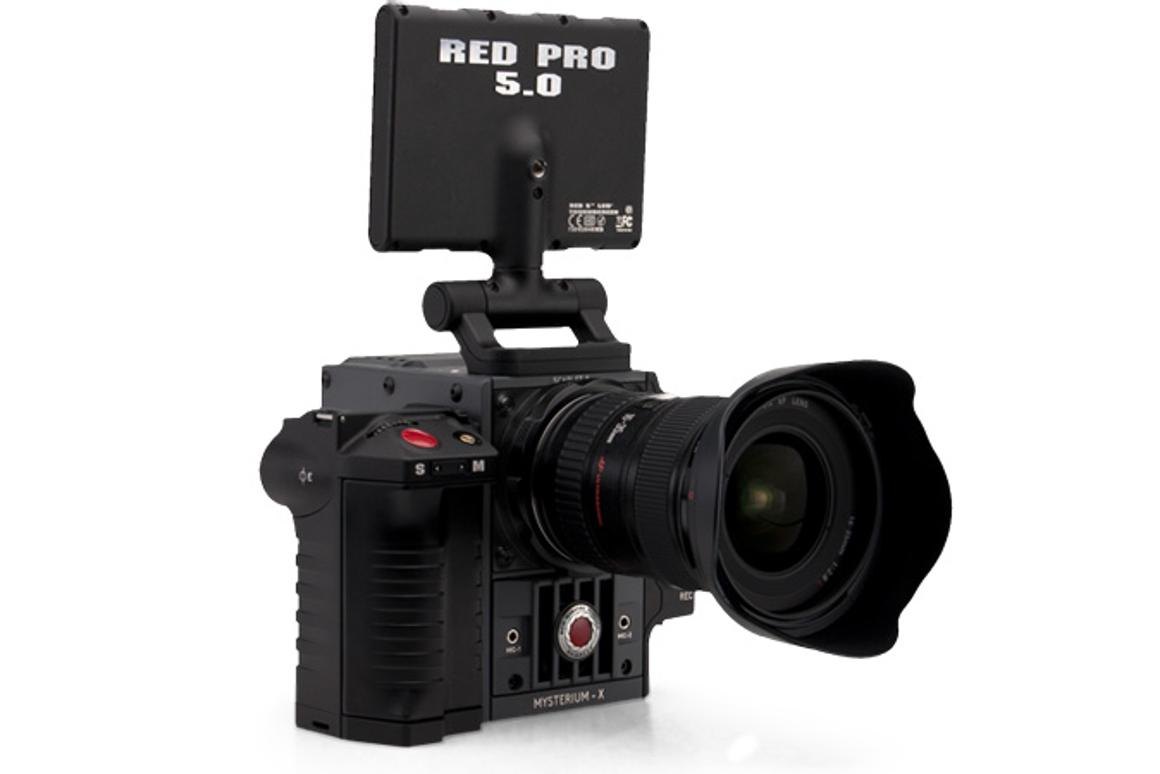 The 4K Scarlet X camera kit with a Canon lens