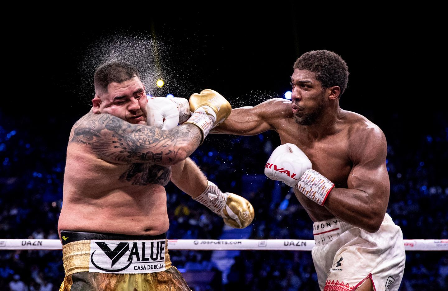 Overall Winner, 'Redemption Punch'. The IBF, WBA, WBO & IBO World Heavyweight Title Fight between Andy Ruiz Jr and Anthony Joshua on December 07, 2019 in Diriyah, Saudi Arabia