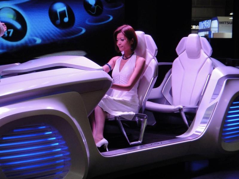 The Mitsubishi EMIRAI concept automotive interface