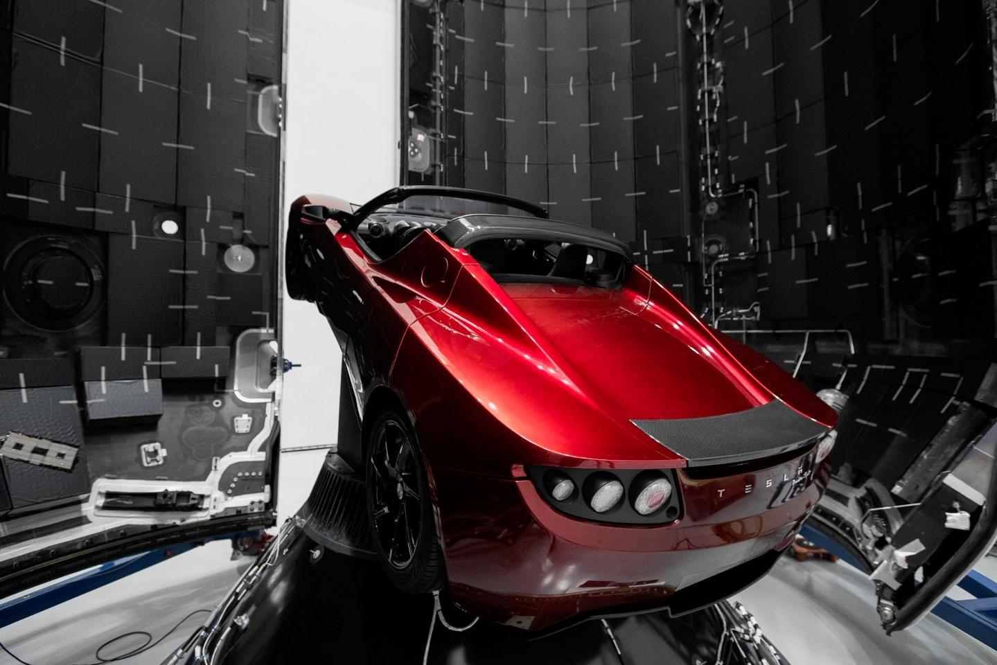 Elon Musk first tweeted about blasting his midnight cherry red Tesla Roadster into space in early December