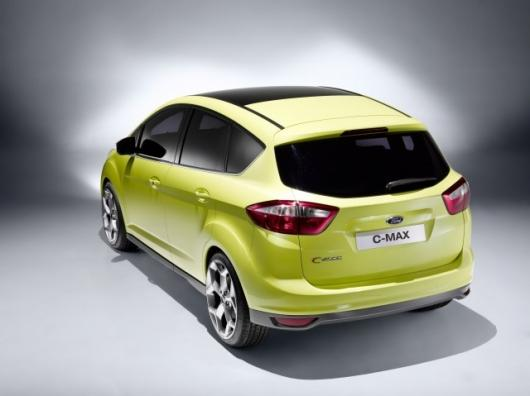 The Ford C-MAX's sweeping roofline