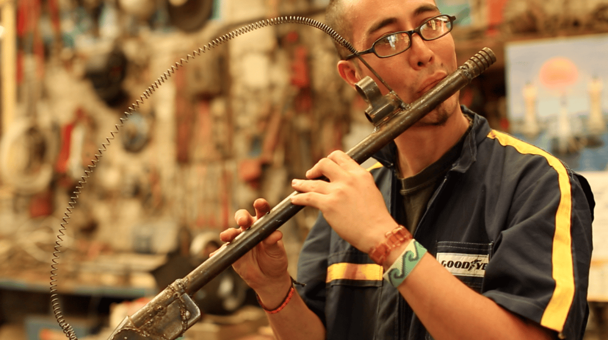 Mexican artist Pedro Reyes's Imagine project transformed weapons into musical instruments
