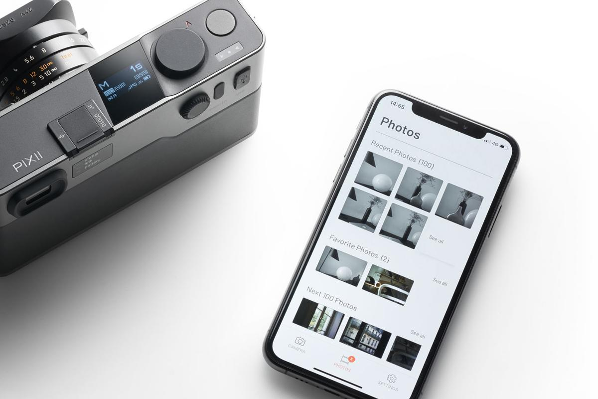 The Pixii digital rangefinder leverages the power of a smartphone for photo editing, sharing and storage