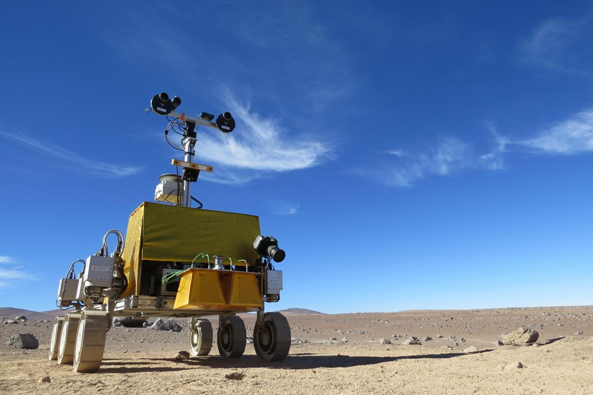 "Bridget spent six ""Martian"" days in the desert (Image: ESA)"