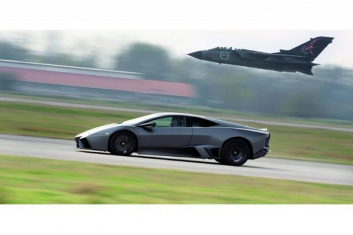 Lamborghini Reventón v Tornado A200-A aircraft