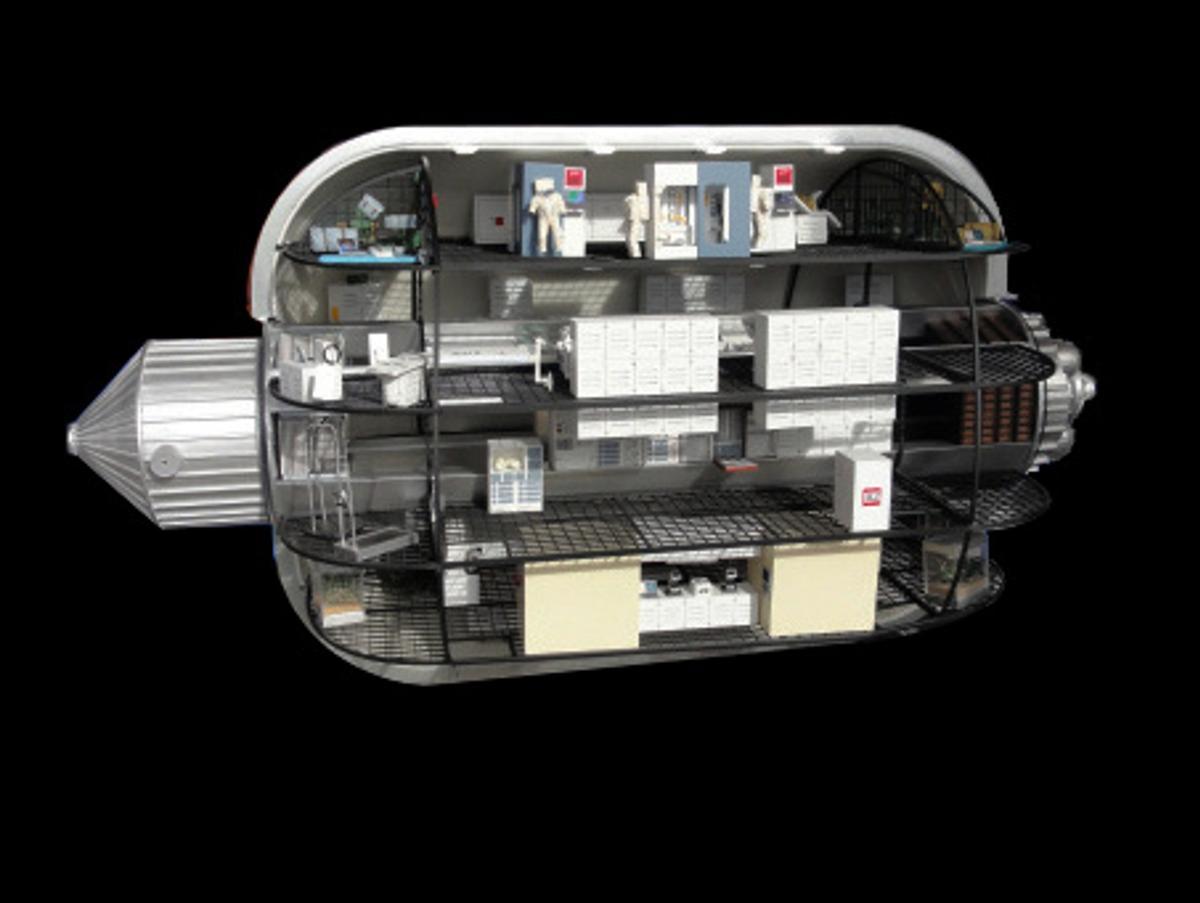 Cutaway view of the Bigelow BA 2100 Expandable Space Module (Image: Bigelow Aerospace)