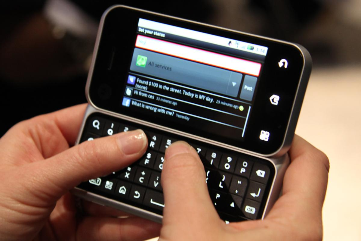 Motorola's latest Android phone, the Backflip