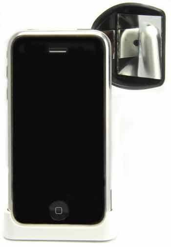 iSnapMe attaches to your mobile phone and turns it into a front-facing camera