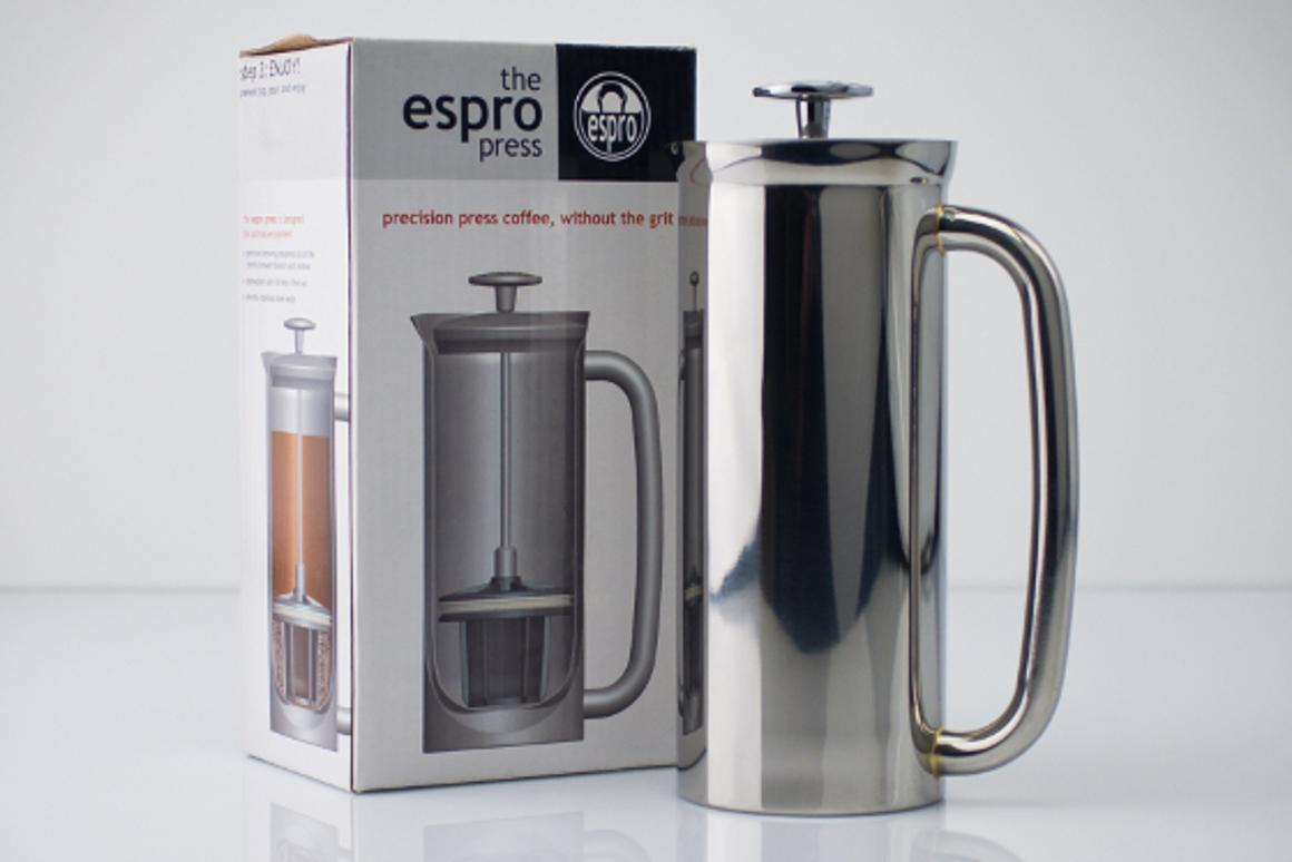 Espro Press features a two-stage micro-filter that preserves coffee flavors and prevents sediments or muddiness in the coffee (image: Epro Inc.)