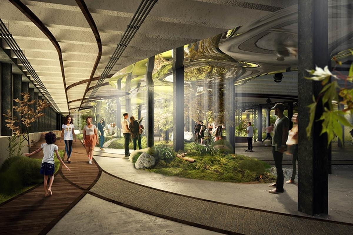 The Lowline is an underground park planned for New York (Image: Raad Studio)