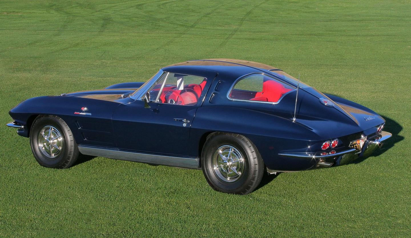 "The 1963 ""Split Window"" Chevrolet Corvette Stingray, one of Stephenson's favorite designs"