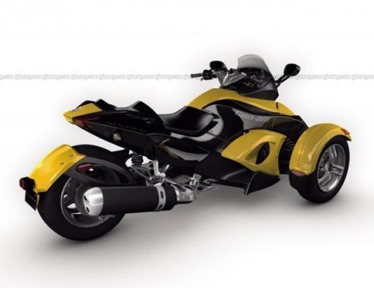 Three-wheeled Can-Am Spyder