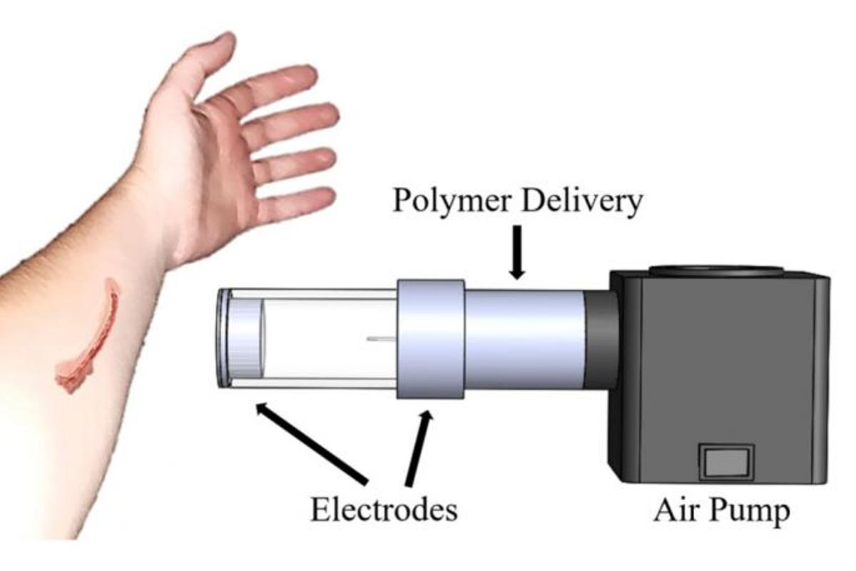 """A diagram of what's officially known as """"the electrostatic and air driven device"""""""