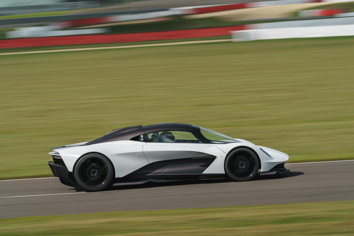 Aston Martin's Valhalla hypercar makes its track debut