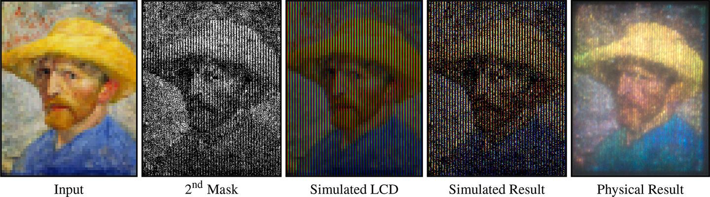 Researchers have successfully projected a full color image using a device which contains no colored components