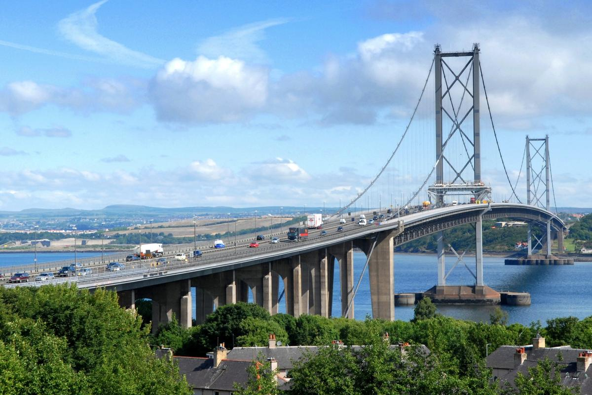Numerous sensors were placed on the Forth Road Bridge in Scotland, allowing for the detection of movements as small as 1 cm