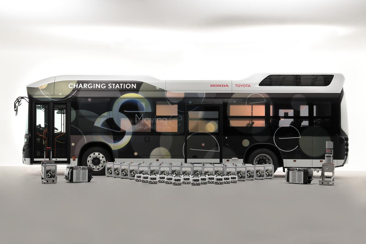 When a hurricane or other natural disaster causes a blackout, the Charging Station bus can roll into town and provide emergency power