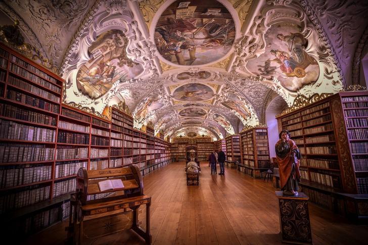 Shortlist. Library of Strahov Monastery, Prague. Strahov Monastery is a Premonstratensian abbey founded in 1143 by Jindřich Zdík, Bishop John of Prague, and Vladislaus II, Duke of Bohemia. It is located in Strahov, Prague, Czech Republic