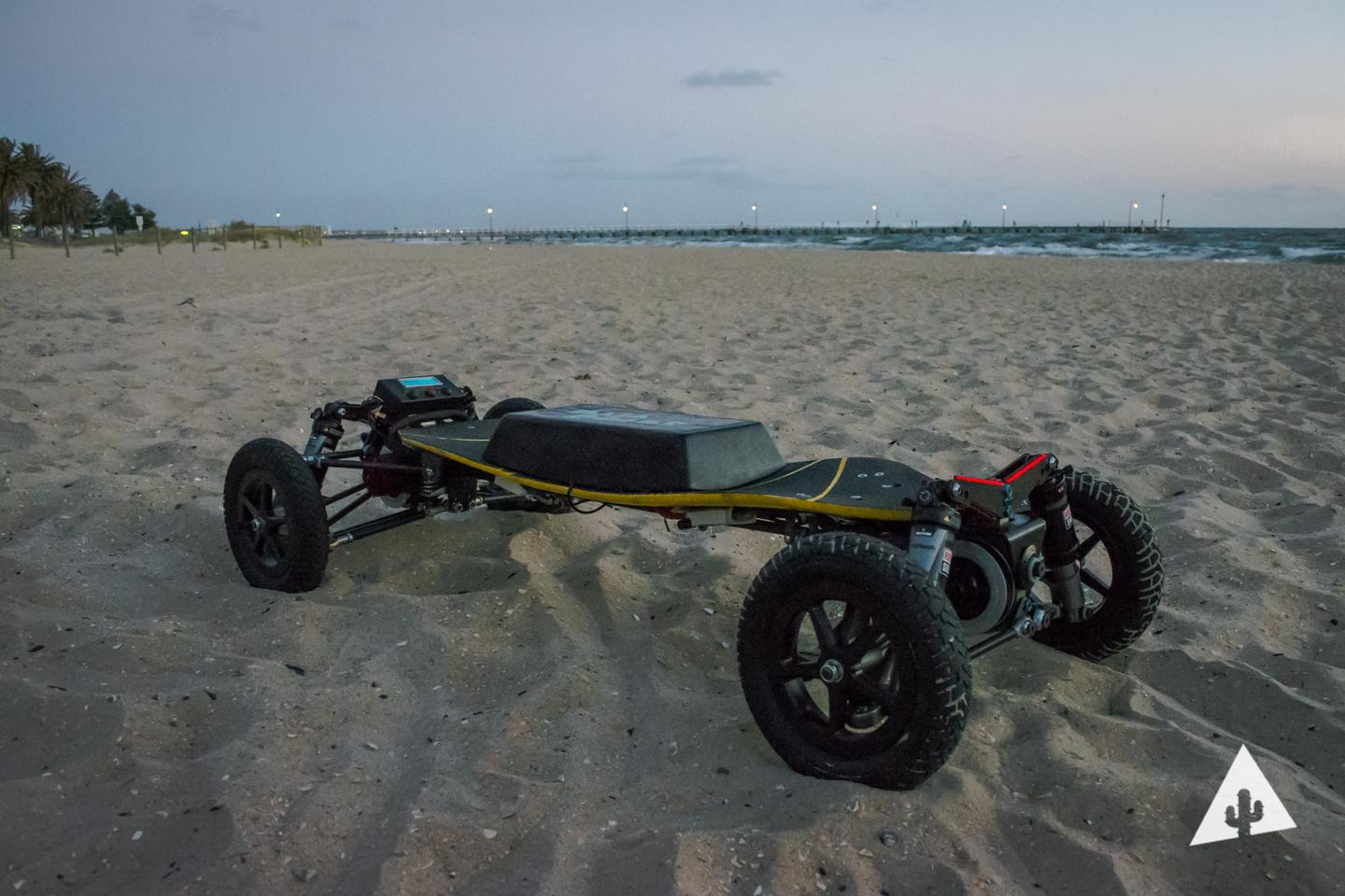 The BajaBoard is built to handle roads, dirt, grass, mountain trails or sandy beaches