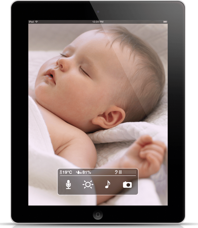 The WithBaby app, running on an iPad