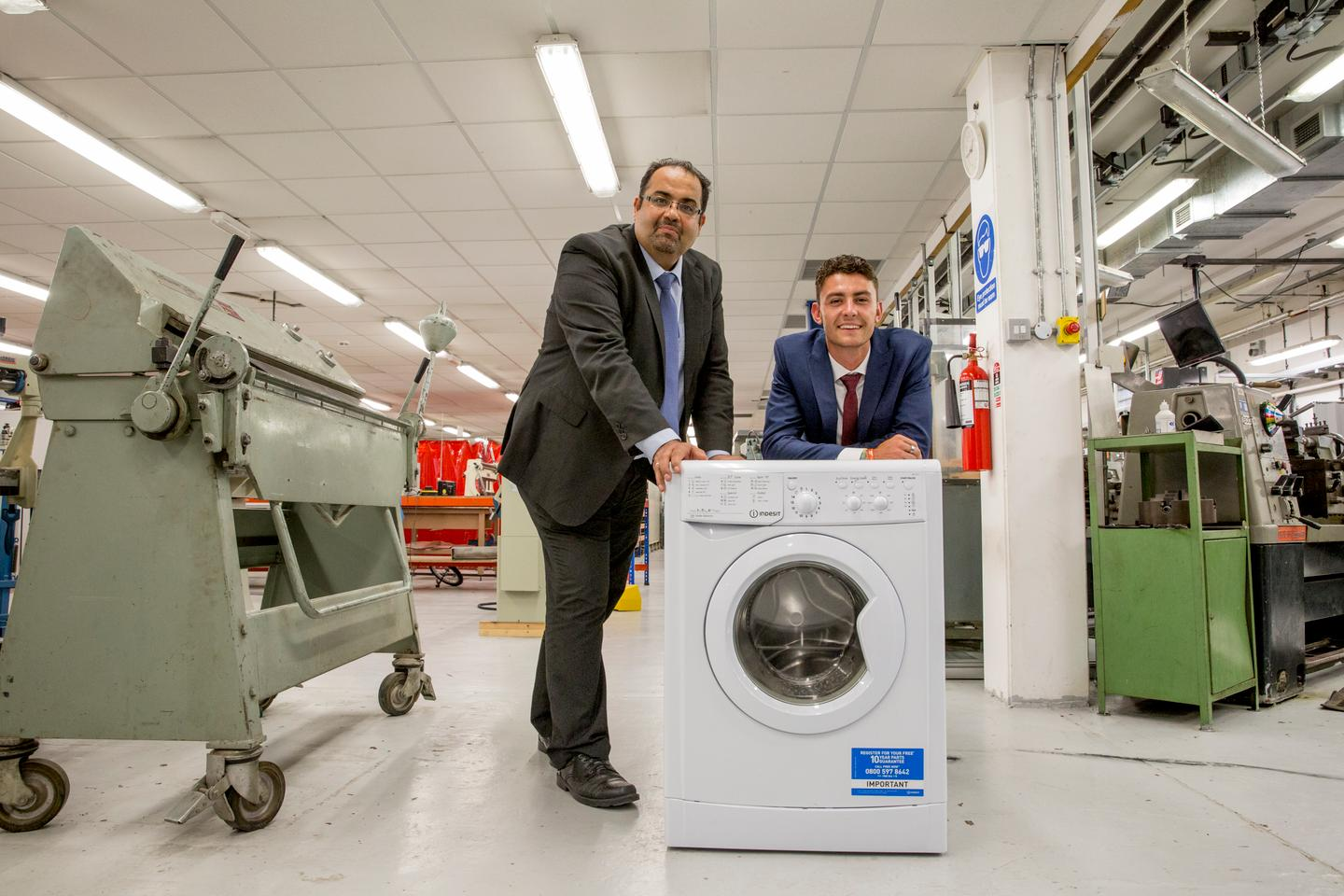 Professor Amin Al-Habaibeh and undergraduate Dylan Knight from Nottingham Trent University are currently refining the device before pitching the idea to appliance manufacturers