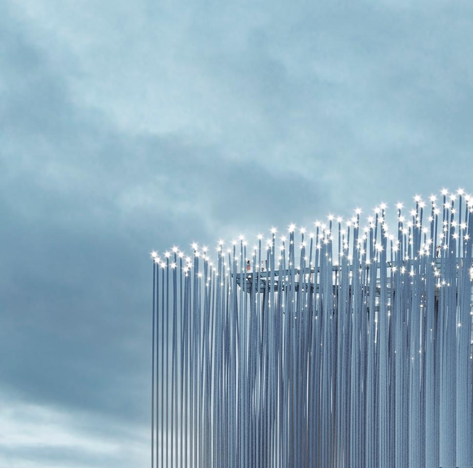 The Breeze of Innovation will feature integrated lighting that will be illuminated using the power of the wind