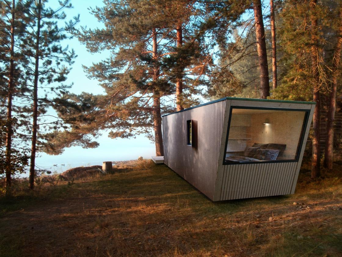 DROP Box N-240 is a modular dwelling thatis easily transportable and comes ready to provide a quick and easy pop up home