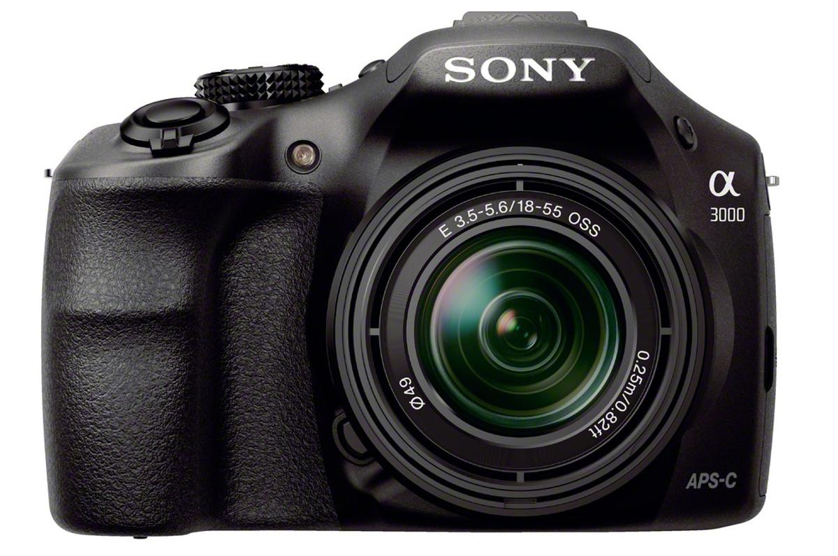 The Sony Alpha A3000 may look like a DSLR, but it is actually a mirrorless camera