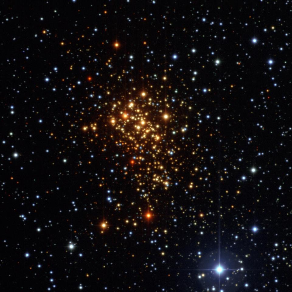 The Westerlund star cluster as taken by the Wide Field Imager on the MPG/ESO 2.2-meter telescope at ESO's La Silla Observatory in Chile (Image: ESO)