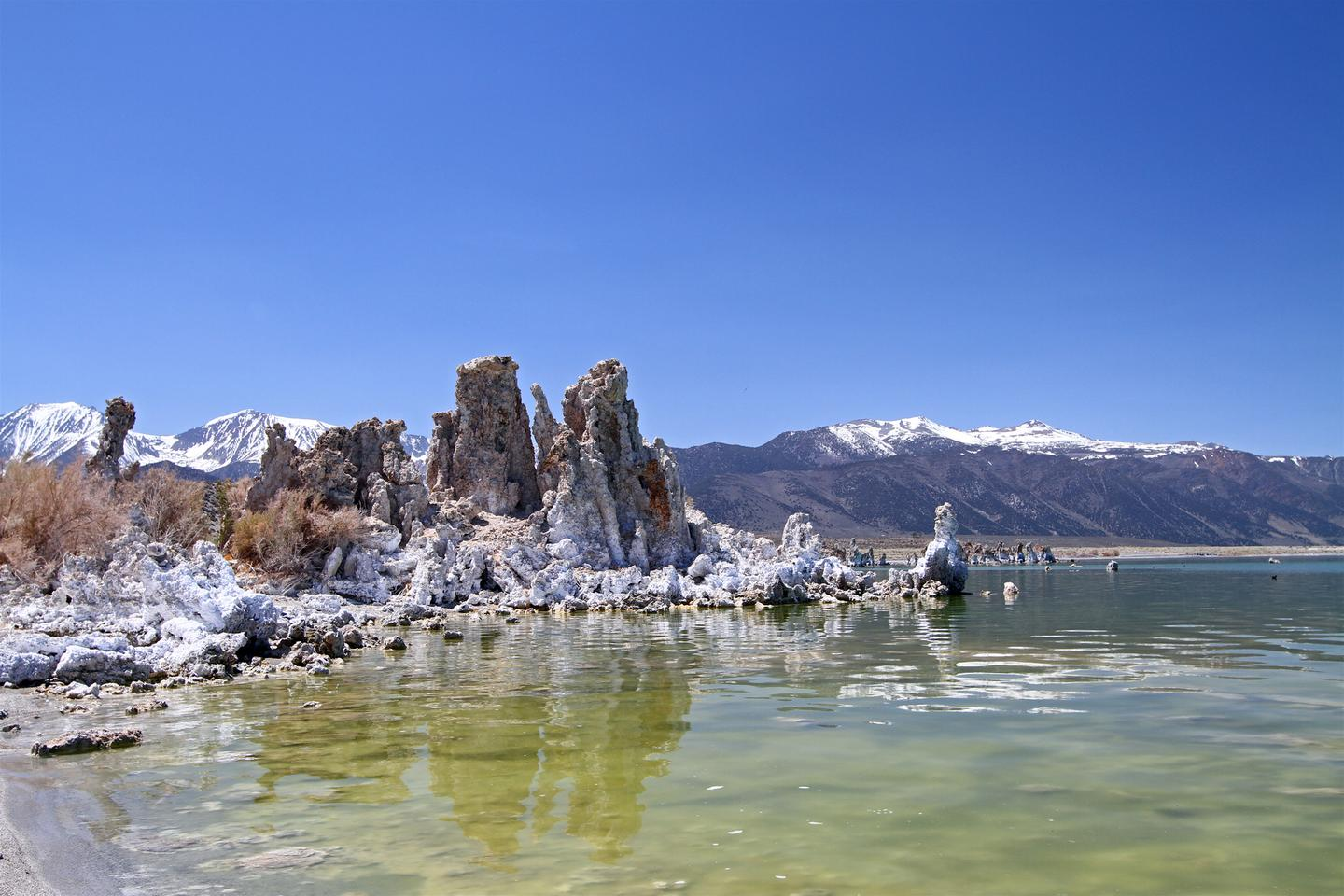 Carbonate-rich Mono Lake in California was one of the lakes researchers took phosphorous measurements