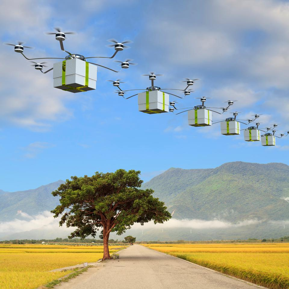 Delivery drones may be better used over shorter distances, when the environment is concerned