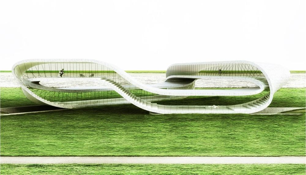 A rendering of the Landscape House