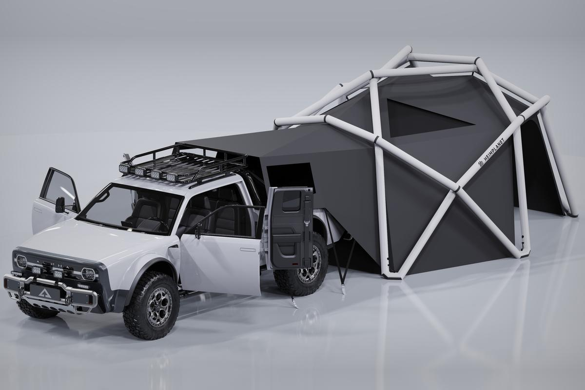 The new AMC x Heimplanet Cloudbreak inflatable pickup camper