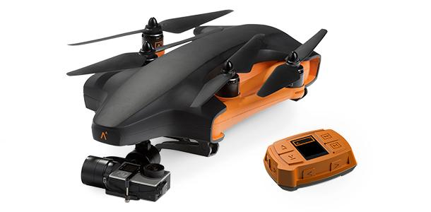 TheStaaker dronefolds up with props still on to fit in a backpack. This should be a super quick drone to get airborne