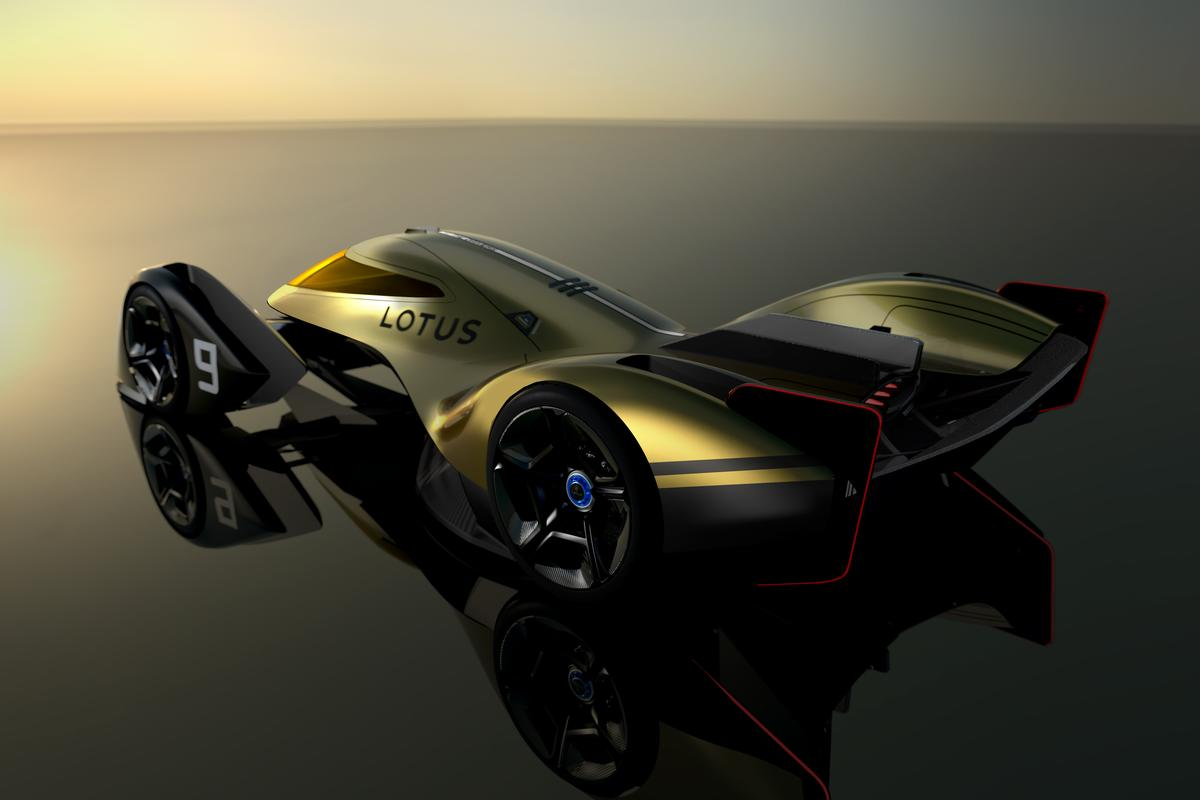 Lotus gives its 2030 Le Mans vision active-aerodynamic panels, a fighter jet-like cockpit and a four-wheel electric drive