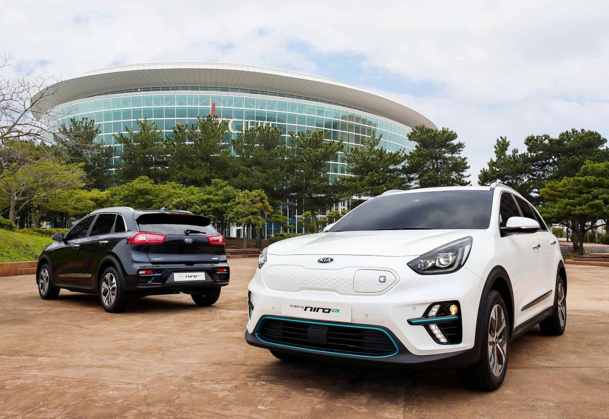 Kia says that the Niro EV will go to production with an electric vehicle powertrain that the company plans to use on more upcoming vehicles